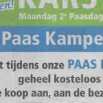 De Paas Kampeermarkt in het nieuws!